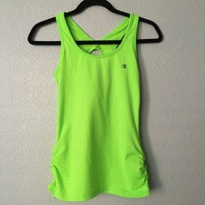 Champion Neon Green Athletic Racerback Tank Top XS